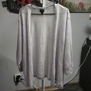 Light grey cardigan 3/4 sleeve